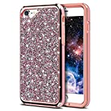iPhone 6 Plus Case iPhone 6S Plus Case, HoneyAKE Bling Diamond Sparkly Handmade Crystal Rhinestone Cover Soft TPU Bumper iPhone 6 / 6S Plus Protective Case Shockproof Case Cover for iPhone 6 / 6S Plus(Rose Gold)