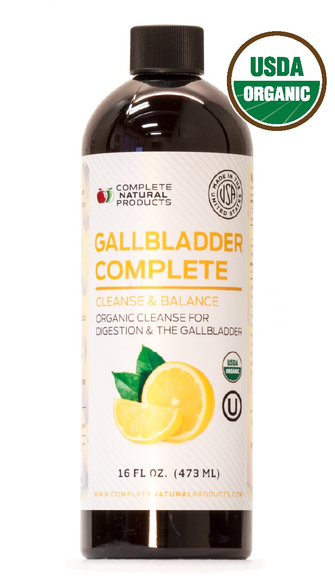 Gallbladder Complete 16oz - Natural Organic Liquid Gallstones Cleanse, Support, Sludge Formula Supplement by Complete Natural Products