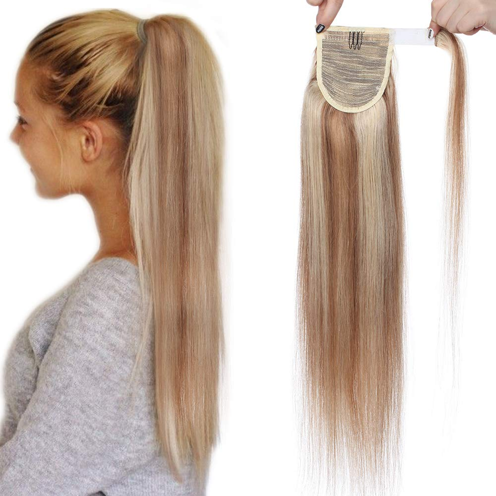 (20 Pouces=50cm) Ponytail Extension Cheveux Naturel Queue de Cheval Extension Long [04#Marron Chocolat] [Wrap Around Ponytail] Teindre/Friser/Lisser Capable Lady Outlet Mall