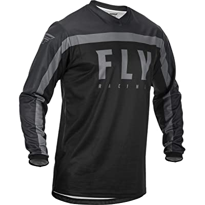 Fly Racing 2020 F-16 Jersey (X-Large) (Black/Grey): Automotive