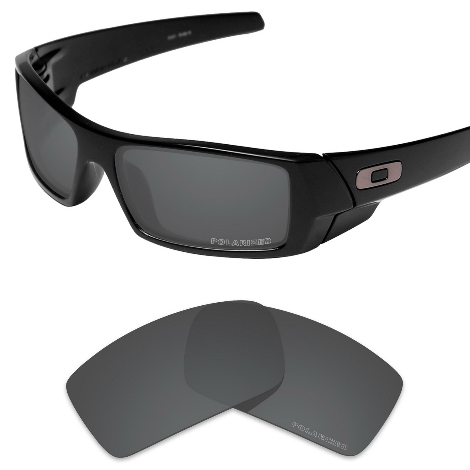 Tintart Performance Replacement Lenses for Oakley Gascan Sunglass Polarized Etched-Carbon Black by Tintart