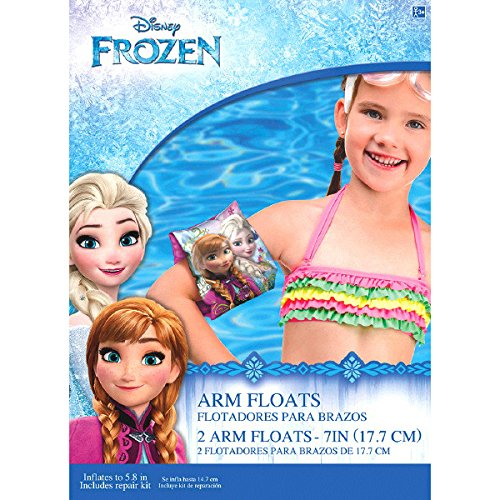 Amscan Disney Frozen Arm Floats Swimming Party (Pack of 2), Multicolor, 5 4/5'' by Amscan (Image #1)