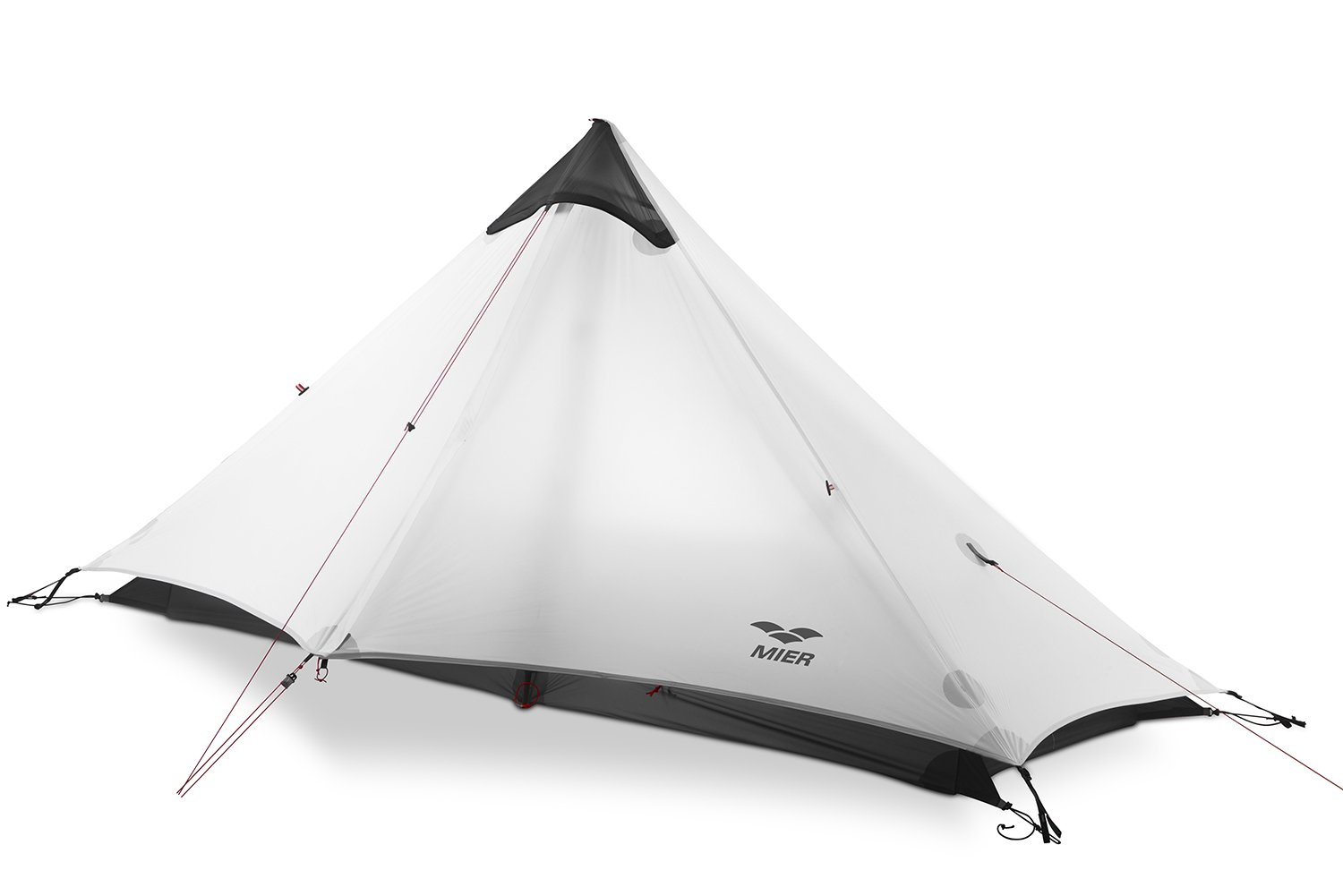 MIER Ultralight Tent 3-Season Backpacking Tent for 1-Person or 2-Person Camping, Trekking, Kayaking, Climbing, Hiking (Trekking Pole is NOT Included), White, 1-Person by MIER