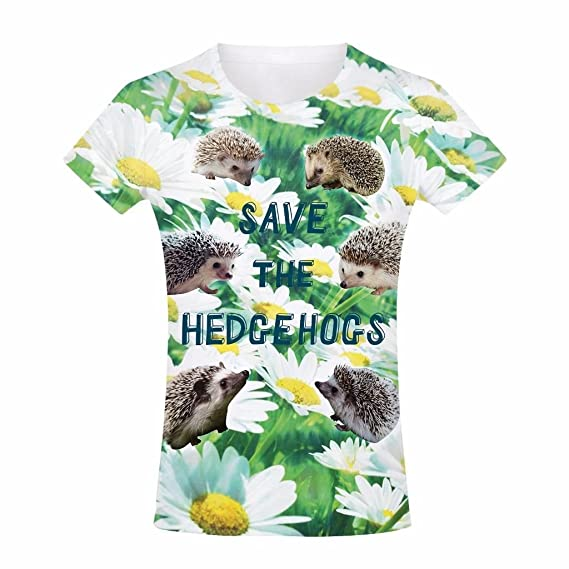 Amazon.com: Kids Graphic T Shirt Boys Top Save the Hedgehogs Youth Tee Shirt: Clothing