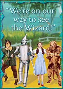 """Ata-Boy Wizard of Oz We're On Our Way 2.5"""" x 3.5"""" Magnet for Refrigerators and Lockers"""