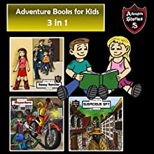 Adventure Books for Kids: 3-in-1 Fun Adventures for Kids: Children's Adventure Stories Audiobook by Jeff Child Narrated by John H. Fehskens