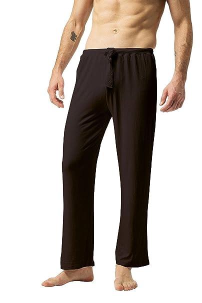 ea9c03a79bd ZSHOW Pantalones de Yoga para Hombre de Algodón Pantalones Largo de Pijama:  Amazon.es: Ropa y accesorios