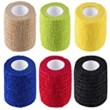 """N.C Products self adhesive Wrap Bandages 3"""" X 5 Yards 6 Count,Strong Elastic Tape"""