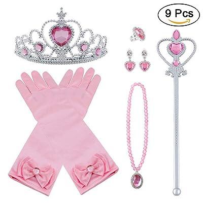Baguette de Princesse Etoile en Paillette Brillant Accessoire Costume Enfant