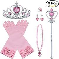 Vicloon 9Pcs Princesa Vestir Accesorios Regalo Conjunto