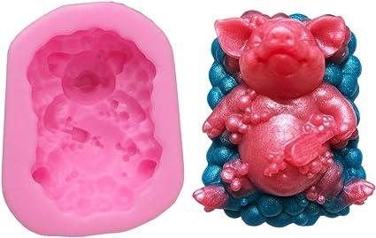 plaster mold soap mold cute mold Pig mold plastic mold bath bomb mold chocolate mold kids mold cartoon mold