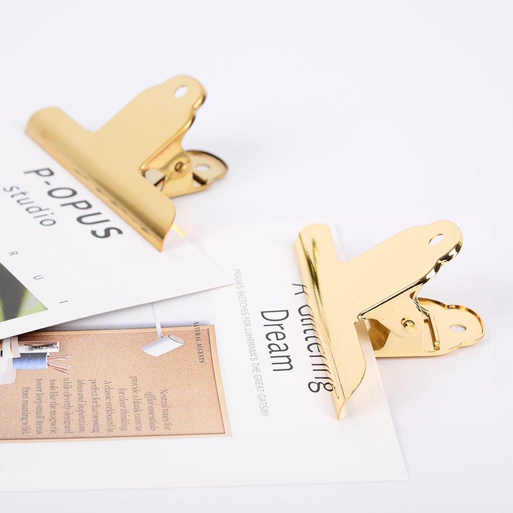 Coideal 10 Pack Silber Edelstahl Datei Geld Binder Clips Klammern 4 Zoll gro/ße Bulldogge Clip Met