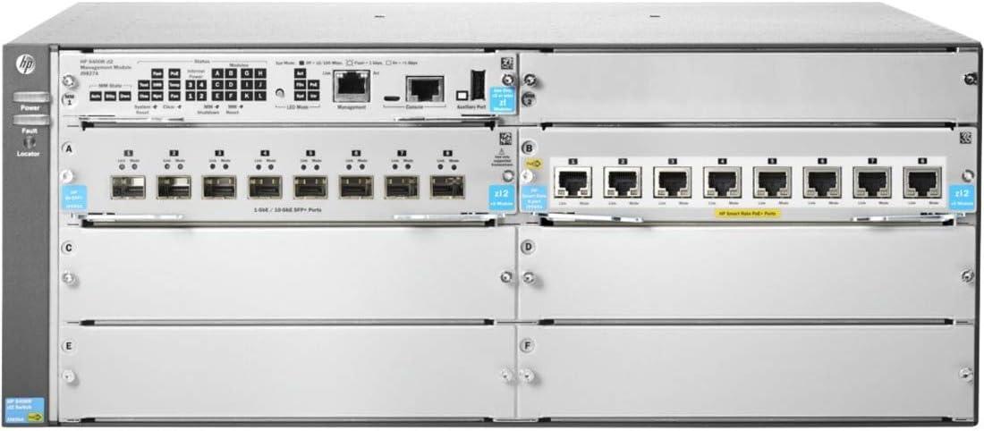 HP 5406R 8-Port 1/2.5/5/10GBASE-T PoE+/ 8-Port SFP+ (No PSU) v3 zl2 Switch