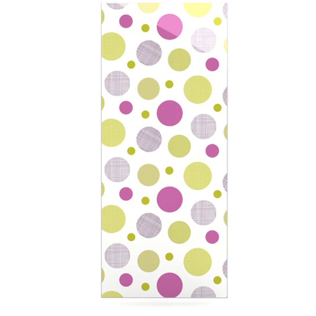 24 x 36 Kess InHouse Julie Hamilton Rhapsody Dot Pink Yellow Luxe Rectangle Panel
