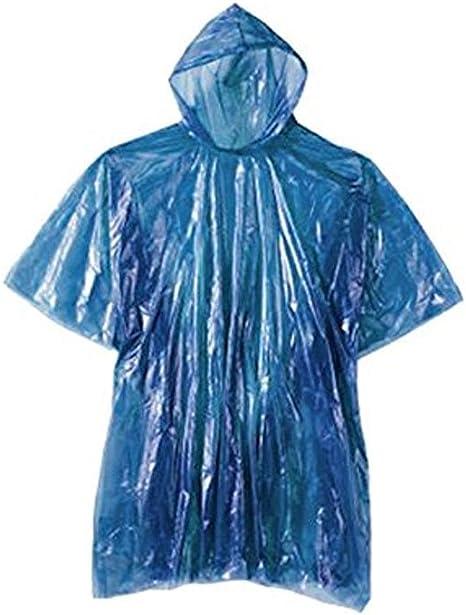 CLEAR WATERPROOF RAIN PONCHO COAT CAPE MAC FESTIVALS THEME PARKS DISPOSABLE