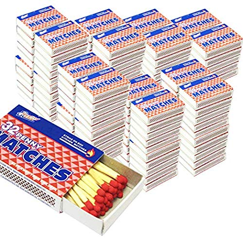 Bulk lot of 500 Kitchen Matches Small Boxes 32 Count