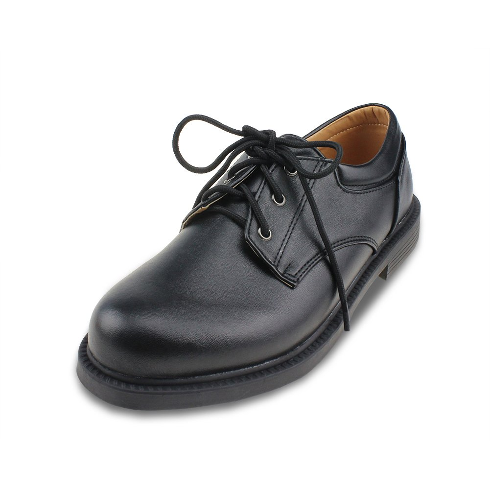 Maxu Boys Wingtip Leather Flats Classic Oxfords Big Kid Size 4