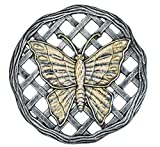 Oakland Living Butterfly Decorative Stone, Antique Pewter