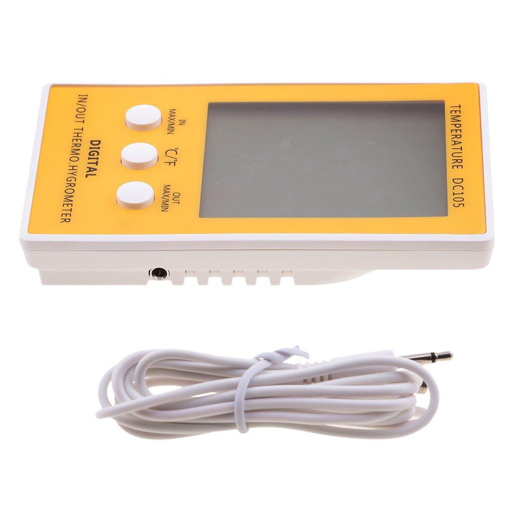 MonkeyJack Digital Thermometer Hygrometer Humidity Temperature Meter with Probe Sensor