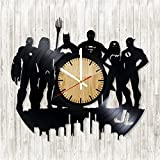 Marvel`s Superheroes Collection Vinyl Record Wall Clock - Get cool kids or bedroom wall decor - Gift ideas for adults, youth – Fans Unique Art Design - Leave us a feedback and win your custom clock