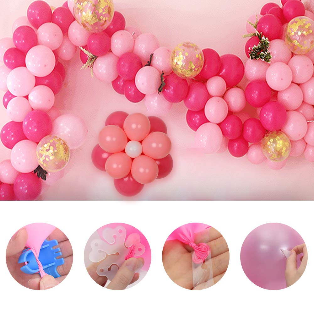 Electric Balloon Pump, KOSBON Balloon Bump 110V 600W Portable Dual Nozzles Electric Air Balloon Pump Electric Balloon Inflator with 83 PCS Balloons, Tying Tools, 20 Flower Clips, Tape Strip, Colored Ribbon and Dot Glues for Party Decoration by KOSBON (Image #5)