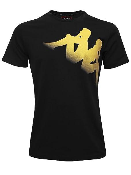 Kappa - Camiseta de Tirantes - para Hombre Nero Oro M