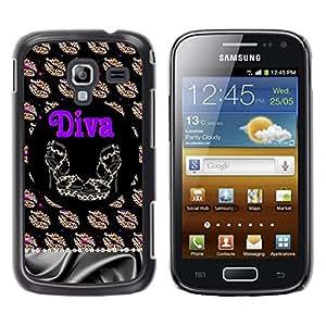 For Samsung Galaxy Ace 2 I8160 / Ace2 II XS7560M Case , Girl Eve God Eden Drawing White - Diseño Patrón Teléfono Caso Cubierta Case Bumper Duro Protección Case Cover Funda