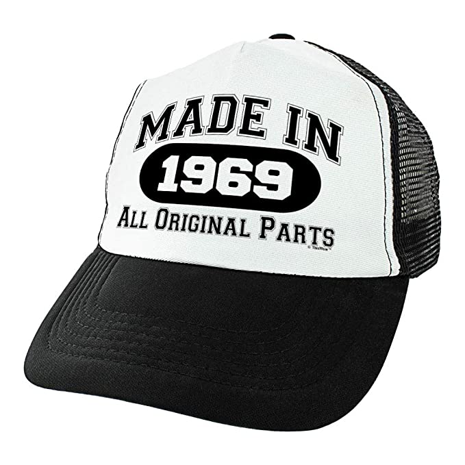 Amazon 50th Birthday Gifts For All Made In 1969 Original Parts Turning 50 Party Trucker Hat Black Clothing