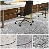 Office Chair Mat for Carpeted Floors | Desk Chair Mat for Carpet Pile 0.19'' High | Clear PVC Mat in Different Thicknesses and Sizes for Every Pile Type | High-Pile 40''x48''