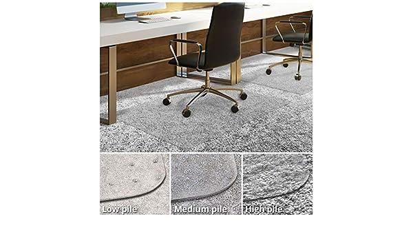 Silla de oficina (para suelos con moqueta | escritorio silla alfombrilla para alfombras | transparente PVC alfombrilla disponible en diferentes grosores y ...