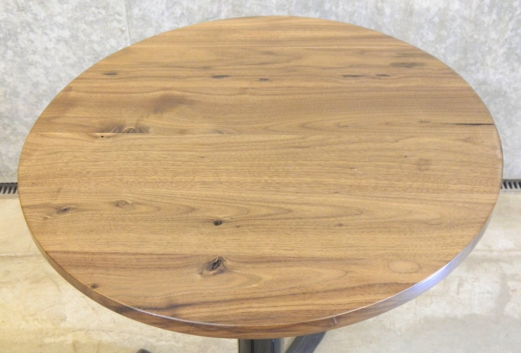 Astonishing Black Walnut Round Cut Glue Up Finished Coffee Shop Table Download Free Architecture Designs Scobabritishbridgeorg