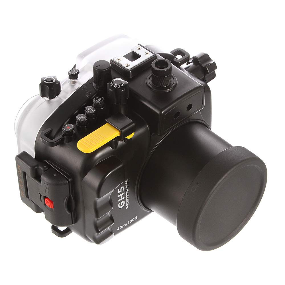 Ruili 130フィート 40m 水中防水カメラハウジングケース パナソニック Lumix DMC-GH5 カメラ用 12-60mmレンズ付き   B07PB1SMJF