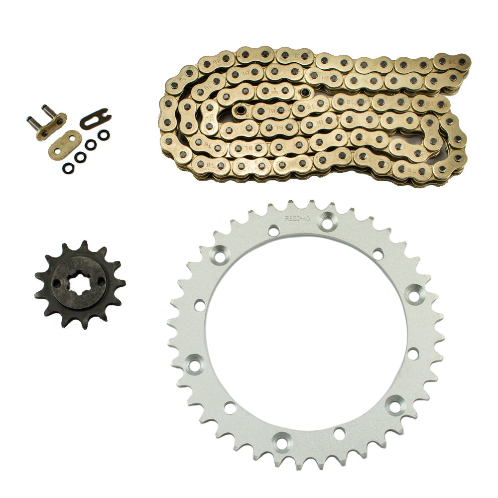 Gold Chain Sprocket Kit for 1988-2006 Yamaha YFS 200 Blaster 200