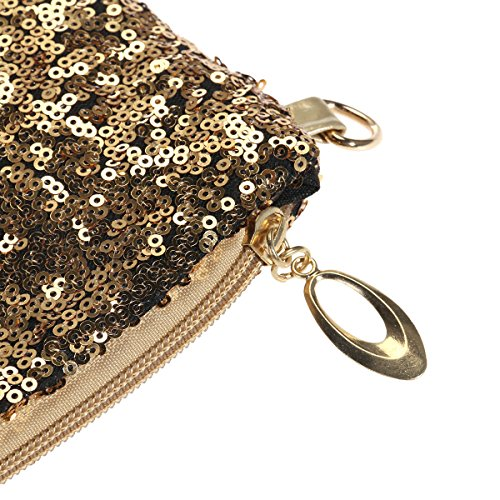 Clutch Lady Women Bag Evening Party Handbag Crossbody Bag for LUOEM Sequin Gold Shoulder aOIq00
