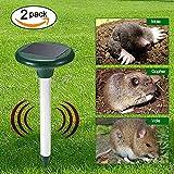 DLLL Eco-Friendly Solar Power Ultrasonic Pest Repeller Chaser Snake Rodent Mice Gopher Rat Mole Mouse Repeller for Garden Yard Field Grassland outdoor
