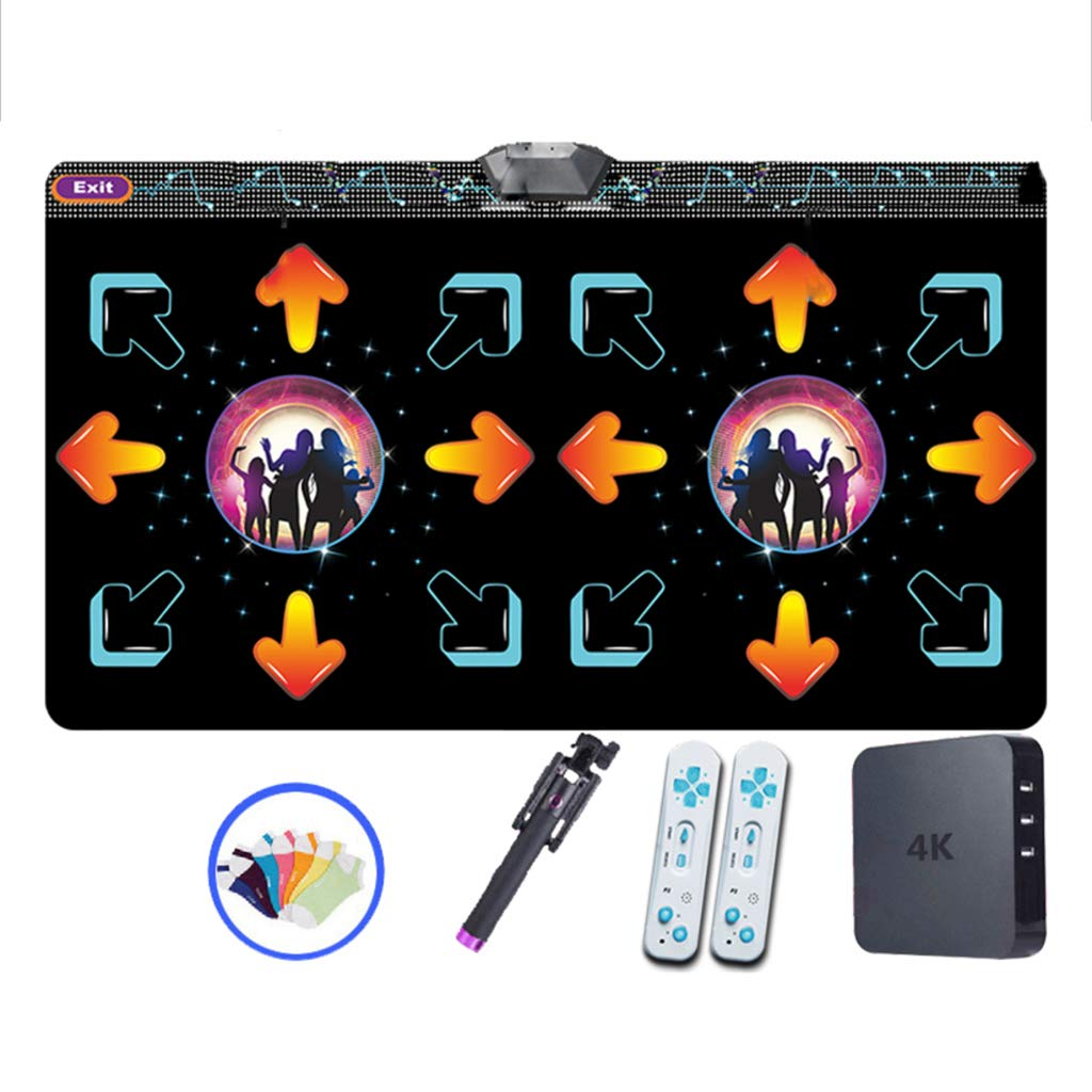 WEWE Children Dance Pad,Thickened 11mm Wireless Dance Mat Fitness Game Dance Revolution Play Mat Hd Tv Computer Dual-c 166x93cm(65x37inch)