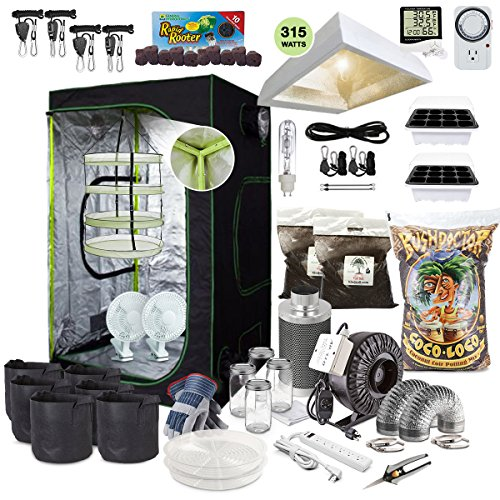 TheBudGrower.com Complete Indoor Grow Kit with Fan, Soil, 48