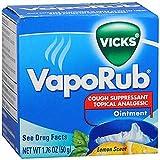 Vick's VapoRub Ointment, Lemon Scent, 1.76 oz Per Jar
