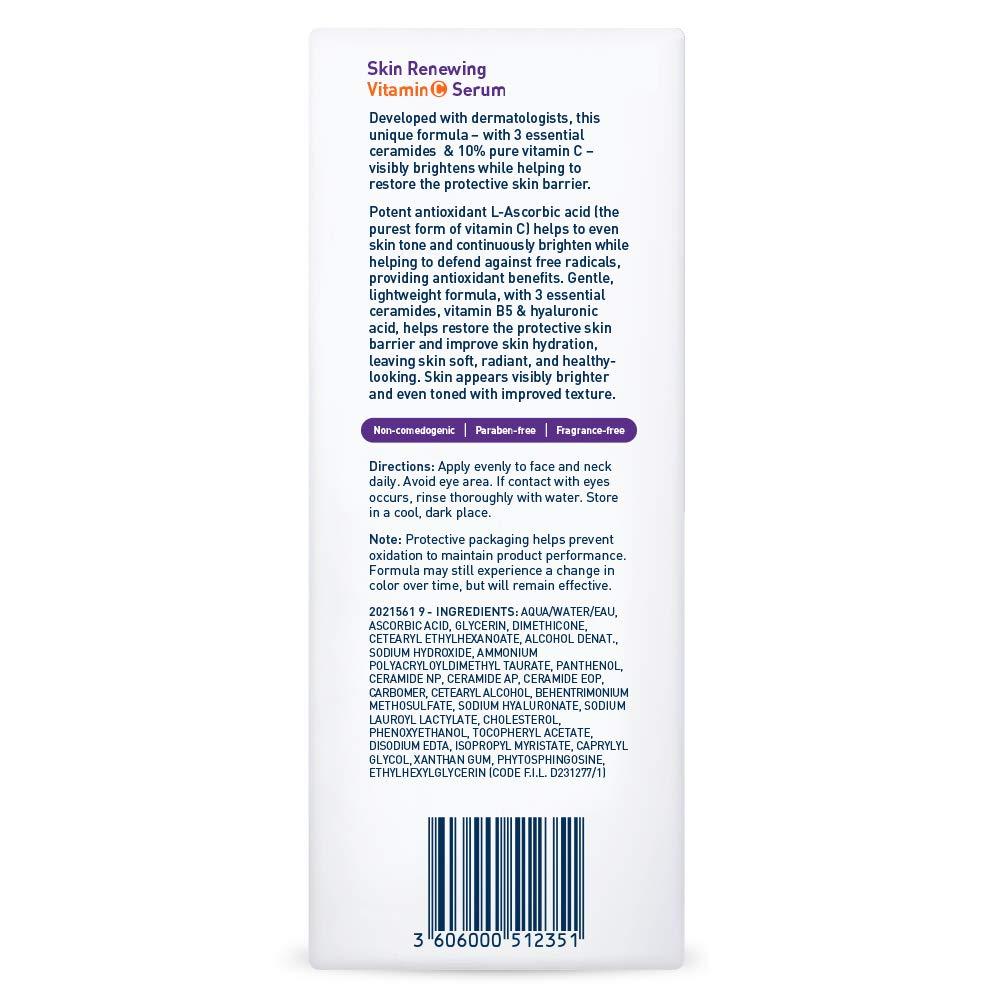 Amazon com: CeraVe Vitamin C Serum with Hyaluronic Acid | Skin