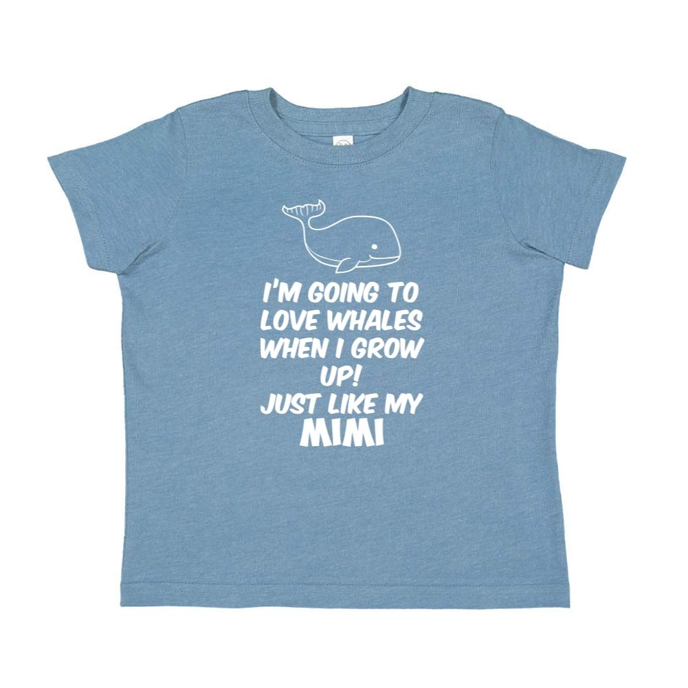 Toddler//Kids Short Sleeve T-Shirt Just Like My Mimi Im Going to Love Whales When I Grow Up