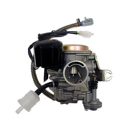 amazon com: premium myk carburetor 50cc 80cc 4 stroke gy6 engine 139qmb  139qma 50qt w electric choke and fuel filter: automotive