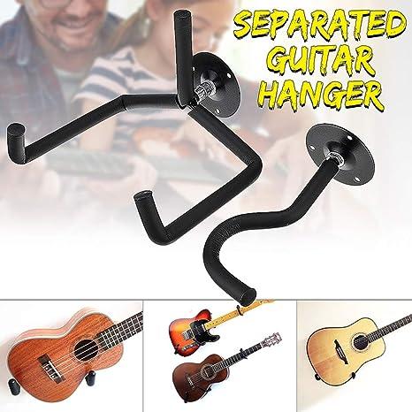 HBIAO 2 Soportes de bajo para Guitarra, Gancho para Colgar en la ...