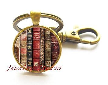 Biblioteca de libros llavero llavero Bookworm lector de ...