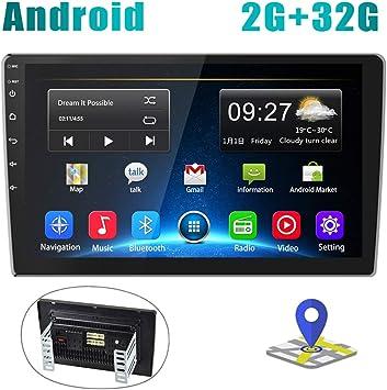 Radio de Coche Android 2G+32G Pantalla Táctil de 10 Pulgadas Estéreo GPS CAMECHO 2 DIN Bluetooth WiFi Sat Navi FM Enlace de Espejo de Teléfono Móvil Video USB Dual para Automóvil: Amazon.es: