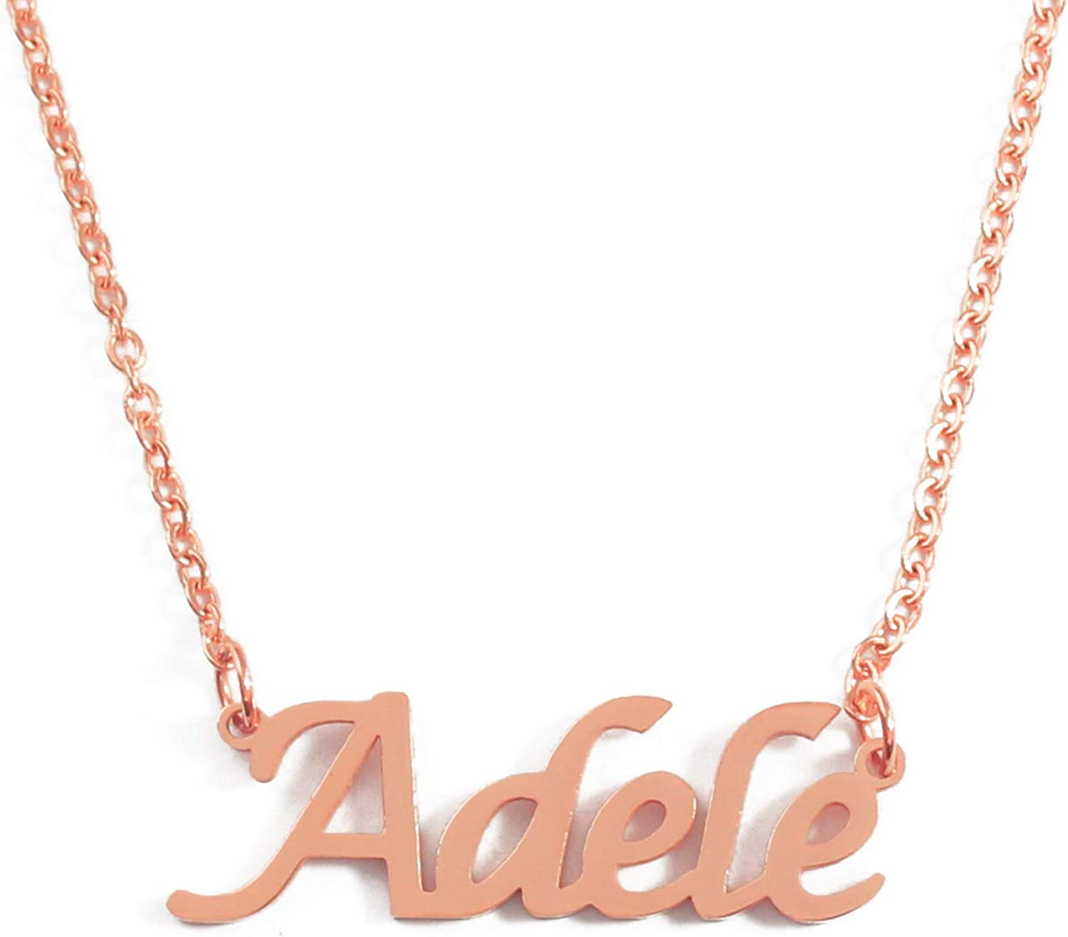 18ct Rose Gold Plated Kigu Gloria Custom Name Necklace Personalized