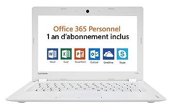 Lenovo IdeaPad 110S-11IBR - Ordenador portátil (Portátil, Color blanco, Concha, N3060, Intel® Celeron®, BGA1170): Amazon.es: Informática