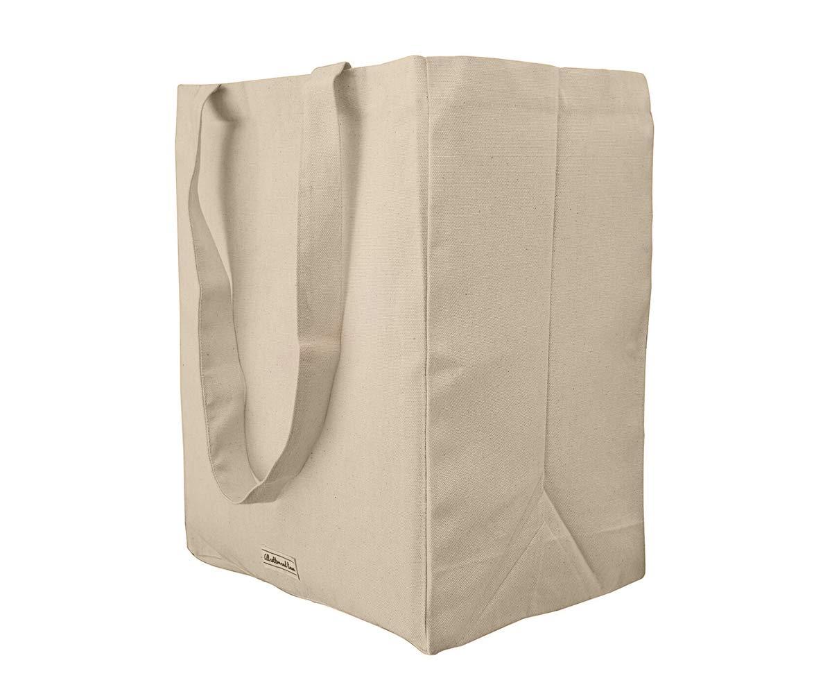 Amazon.com: 100% orgánico algodón Natural bolsa de lona ...