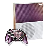 eXtremeRate Purple and Gold Chameleon Full Faceplates Personalized Skin Decal Stickers Covers for Microsoft Xbox One S Console Controller