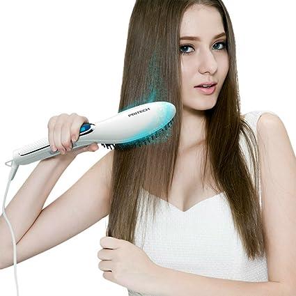 PRITECH® Cepillo alisador de pelo cepillo alisador de cabello Más Rápido Calentamiento, Cepillo Alisador
