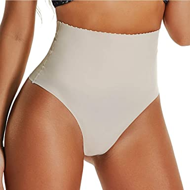 914ec84651 Joyshaper Women s Sexy Thong Tummy Control Panties Shapewear Waist Cincher  Girdle Butt Lifter Bodysuit - Beige